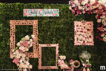 Unique floral photo booth with frames