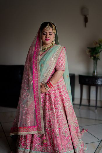 Photo of Stunning light pink lehenga for wedding