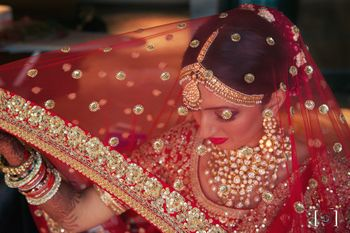 Photo of Bride with red dupatta