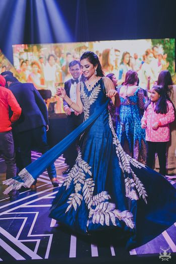 Photo of Blue Manish malhotra cocktail gown