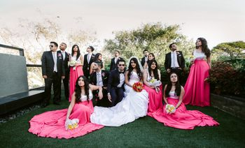 Photo of bridal party photography