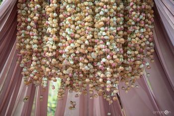 Photo of Beautiful floral strings for mandap decor