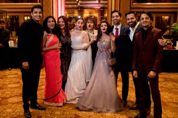 Alia Bhatt with cousins and friends at her cousin's reception