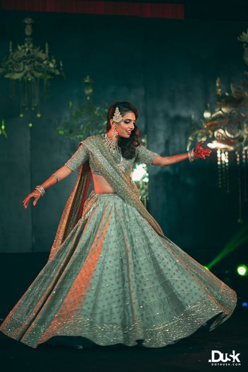 Bridal Lehenga Photo bride dancing