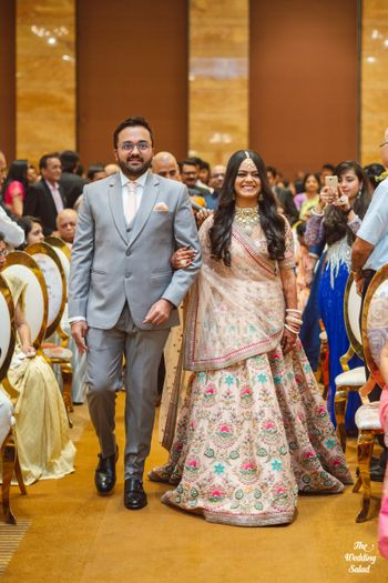 Photo of sabyasachi bridal lehenga to reception lehenga