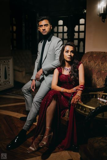 Shot of a couple at their wedding function