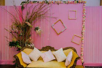 Light pink stage decor