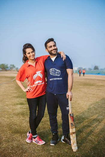 Photo of Customised tshirts for bride and groom to play cricket