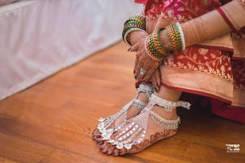 Photo of Feet bridal jewellery pajeb