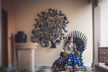 Boss bride on game of thrones seat