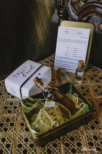 Photo of Bride favour and alcohol hamper