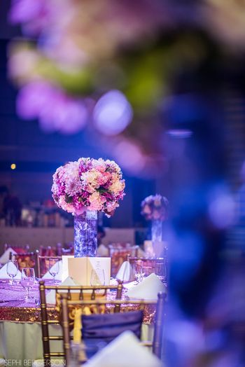 Purple Wedding Decor Photo