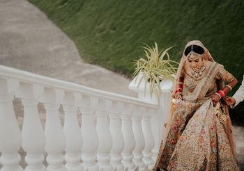 Unique bridal lehenga
