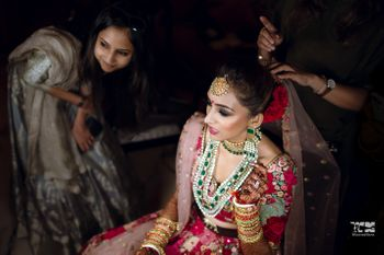 Photo of The bride just before she leaves for her pheras