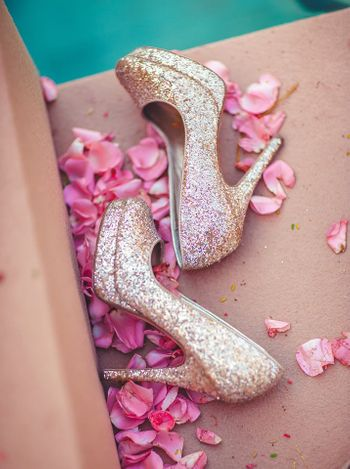 Wedding Accessories Photo glittery shoes