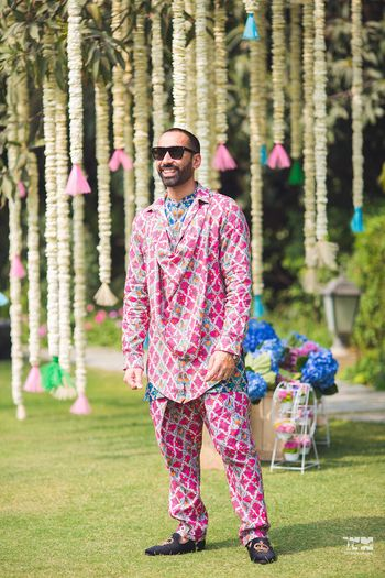 Quirky mehendi groomwear