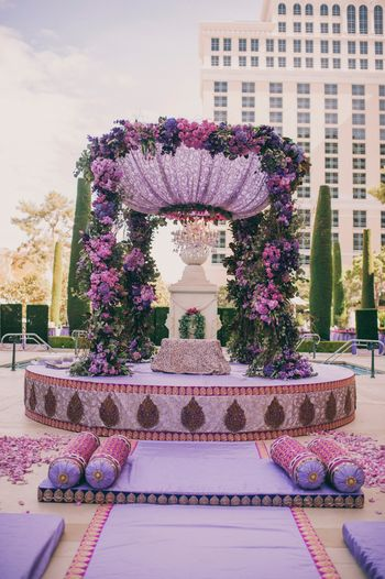 Photo of Circular floral mandap decor