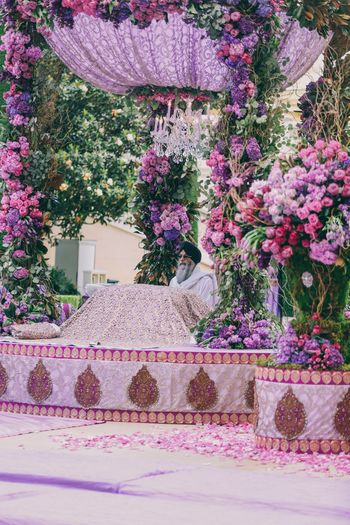 Photo of Lavender anand karaj decor