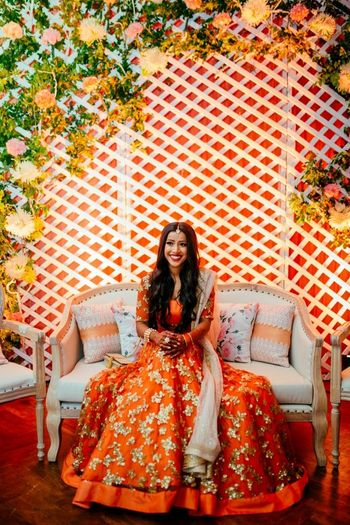 Orange Outfits Photo Orange lehenga