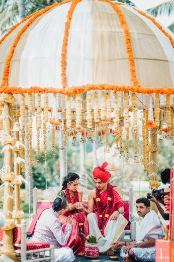 Decor idea for a south indian day wedding