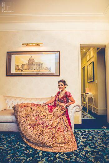 Red Bridal Lehenga Photo