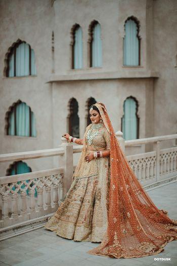 A bridal portrait captured on rooftop