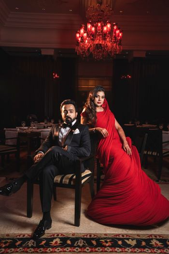 Photo of Red cocktail gown by gaurav gupta