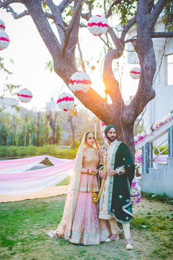 Bridal Lehenga Photo anand karaj outfit