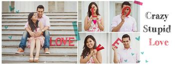 Photo of Using LOVE letters in the pre wedding shoot
