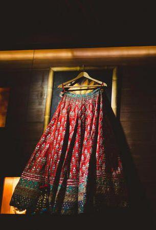 Photo of red bridal lehenga by Anita dongre