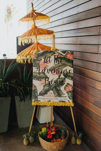 Entrance decor wedding signage