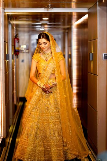 Photo of Orange offbeat bridal lehenga colour