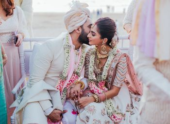 Photo of Cute couple shot during pheras