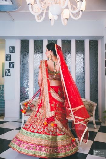 Red Bridal Lehenga Photo
