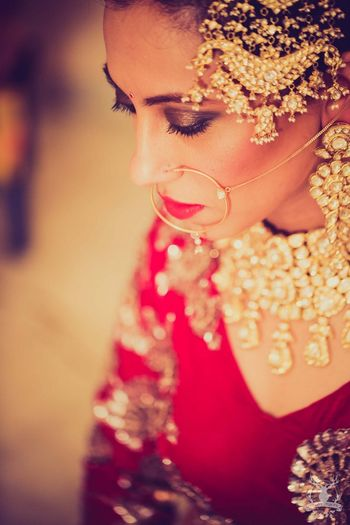 Bridal jewellery passa in gold and polki