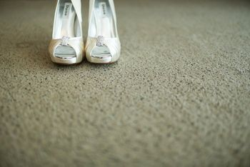 Photo of silver pumps by Dune