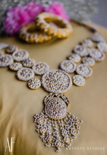 Gorgeous bridal necklace with tassels