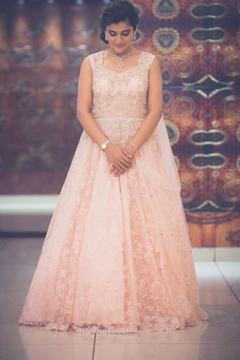 Photo of light pink gown