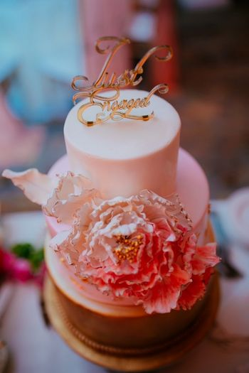 Cakes Photo carnations in bridal hairstyle