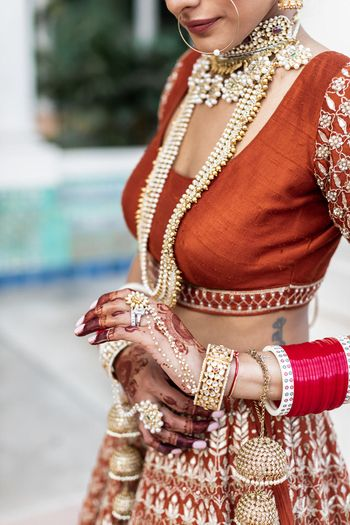 Bridal details with bridal jewellery