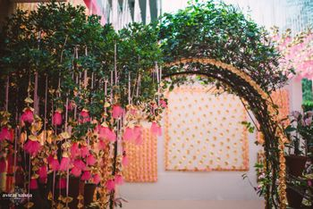 Photo of hanging pink decor
