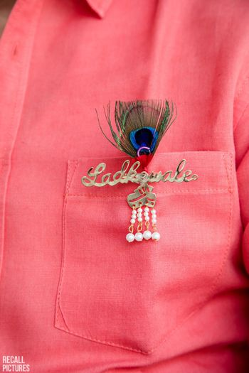 Photo of Ladkewale badges and brooch for girls or boys side