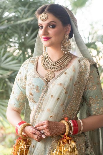 Photo of Sabyasachi bridal lehenga in seafoam
