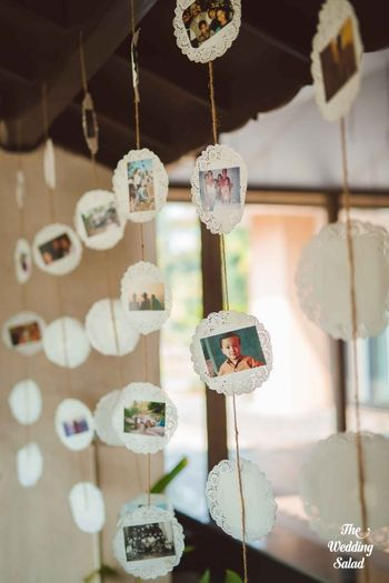 DIY wedding decor with baby photos