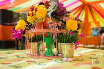 Photo of Birdcage Table Centerpiece