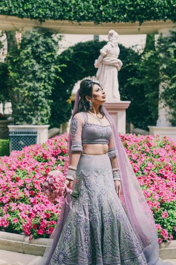 Photo of Lavender grey lehenga