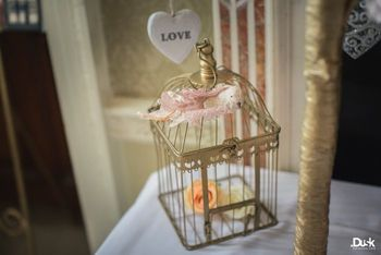 Photo of gold birdcage