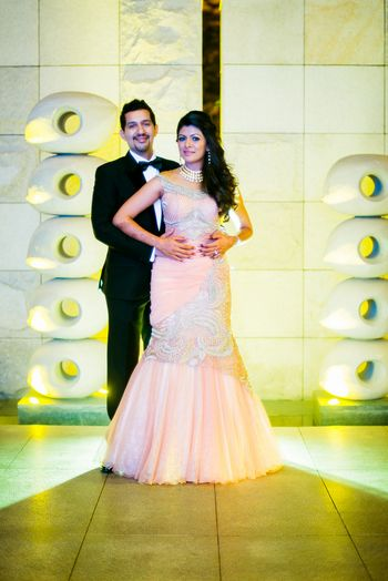 Photo of peach gown