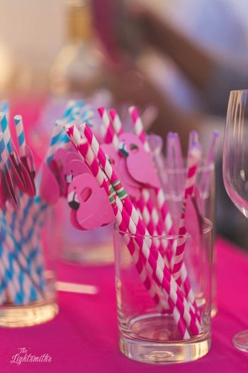 Photo of Tropical theme flamingo favour