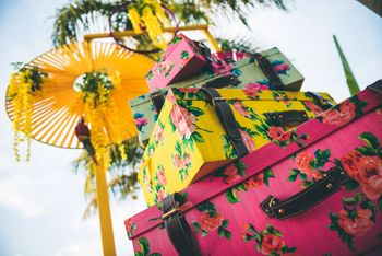 Photo of floral pritn suitcases